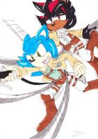SnK and Sonic crossover by Lalitia