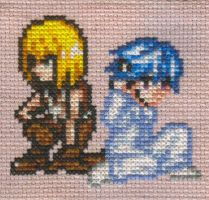 XStitch Fanart- Near and Mello by missy-tannenbaum