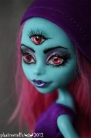 Monster High 3 Eye Ghoul custom repaint PORTRAIT by phairee004