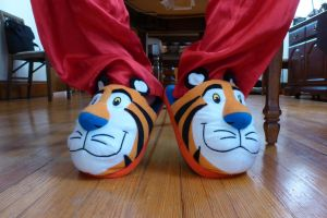 Tony the Tiger slippers, front by ExileLink