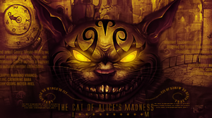 The cat of alice's madness by AmorenoCreative