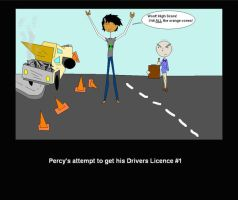 percy in drivers ed? by CoyoteShivers