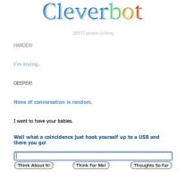 Cleverbots come from USBs by LadyQueenBee