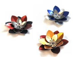 3 Layer Scalemaille Flowers by SerenFey