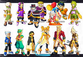 Megaman ZX Ultimus-  NPCs by ultimatemaverickx