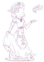 Young Princess Zelda Doodle :3 by Ppeacht