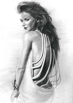 Figure Drawing Portrait 4 by AnAn5538