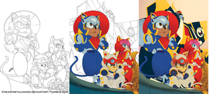 Samurai Pizza Cats-Step By Step by HeavyMetalHanzo