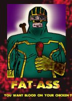 FAT-ASS poster blood(quote) by ztenzila