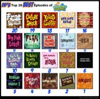 DD's Top 20 BEST Episodes of Spongebob Squarepants by DestinyDecade