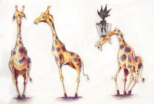 A tamed girafe by FranckCorp