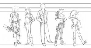 Comic Characters Wardrobe/Scale Sketch by good-ol-boy