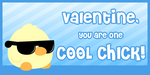 Cool Chick Valentine by Happbee