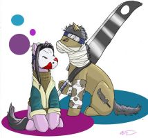 My Little Haku and Zabuza by blademalfoy