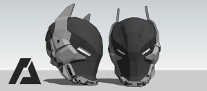 Batman - Arkham Knight Helmet by AZTLANN