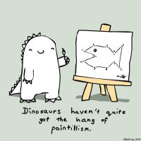 Dinosaur Facts - Pointillism by DeathByStraws