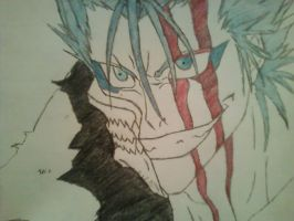 Grimmjow redone in color by OmegaXzeroX566