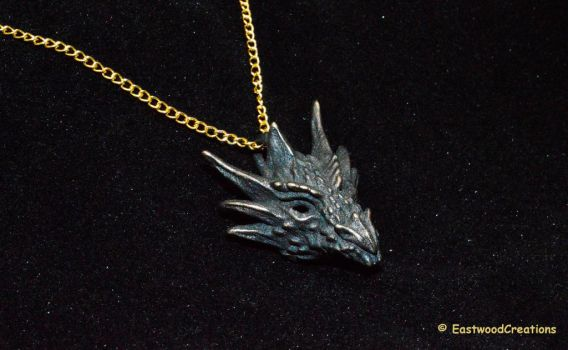 Umbral Dragon Pendant by MichaelEastwood
