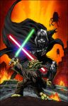 Vader vs Yoda by Shelby colors by SplashColors