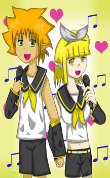Vocaloids Ryan and Lire by Exekiella