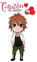Amour Sucre 4 Plan de Vol - Chibi Kentin color by xiannustudio