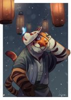 Kitsune Tiger by AtaroLapin