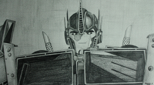Optimus Prime Sketch by PDJ004