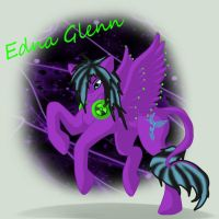 Edna the Pegasus by SilverFangWrathwolf1