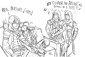 CONNOR AND AVELINE (ASSASSINS CREED After Hours 1) by SLYJICE007