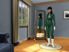 Sims 3 - Kitty Katswell wore her agent outfit by Magic-Kristina-KW
