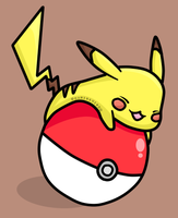 Graphic | Pikachu and a pokeball by RoaringWindd