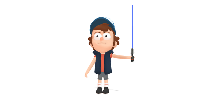 Dipper Pines with lightsaber by MarcosPower1996