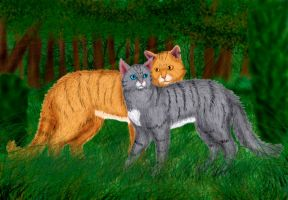 Lionblaze and Cinderheart by Alisa222
