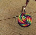 Rainbow keyring by MeticulousBlue