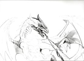 Dragon W.I.P. 1 by HoustonTxArtist