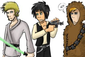 Star Wars Freaks by GreenDay-Toons