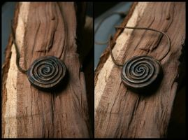 Double-Side Spiral Pendant by Hluthvik