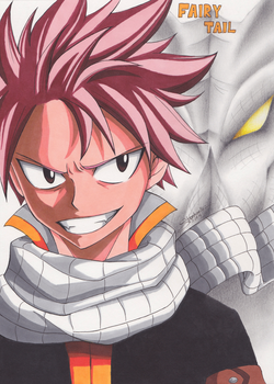 Natsu and Igneel - 'I will always watch over you' by InlineSpeedSkater