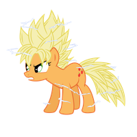 Super Saiyan Applejack by jordanb22
