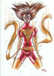 dark phoenix MARKER MADNESS by deemonproductions