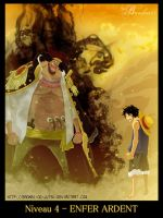 Barbe Noire Vs Luffy by Bankai-no-jutsu