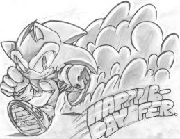 OHS :SA2 Happy B-day buddy by andreahedgehog