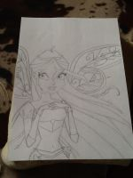 my Bloom Believix drawing no collor by DawnDP