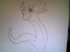 Dratini uncoloured by KayceeMuffins