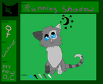 my now oc   running shadow by Rosey-Kitty