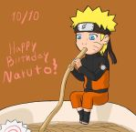 Happy Birthday Naruto by kitkatnis