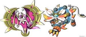 Lunala and Solgaleo Astral Evolutions