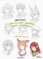 200pts/ $2 HSS commissions [ closed, for now ] by hako-guu