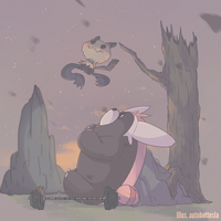 Kiteruguma and Mimikkyu by AutobotTesla