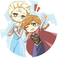 [Request] Elsa and Anna by Peppa-Renon-chan